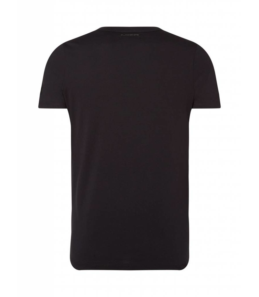 PUREWHITE RUBBERIZED T-SHIRT BLACK