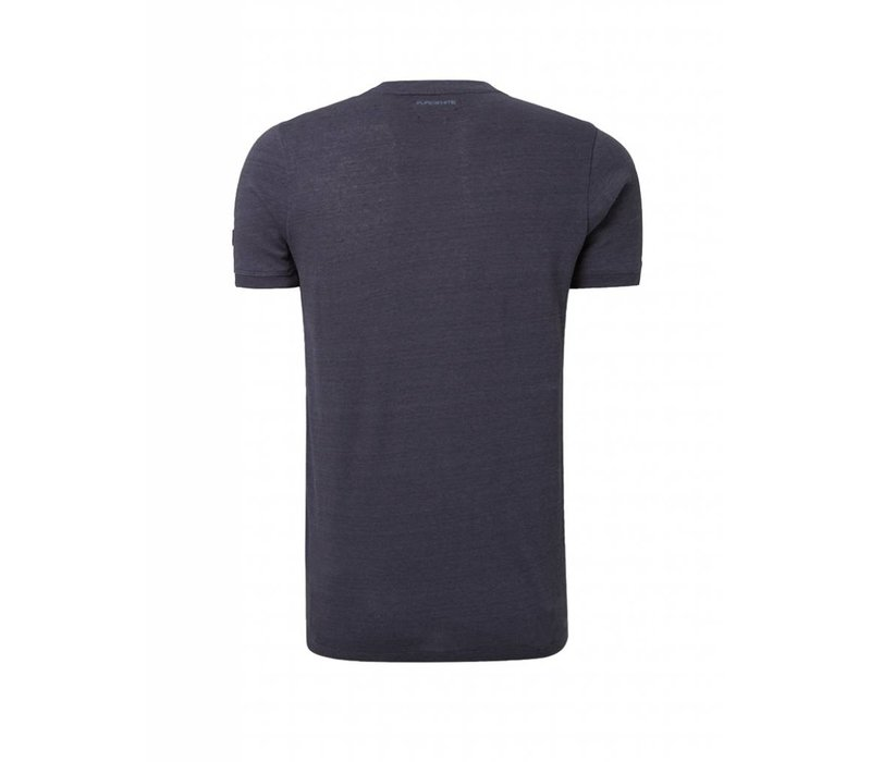 PUREWHITE 'I WEAR MY SUNGLASSES' T-SHIRT NAVY MELANGE