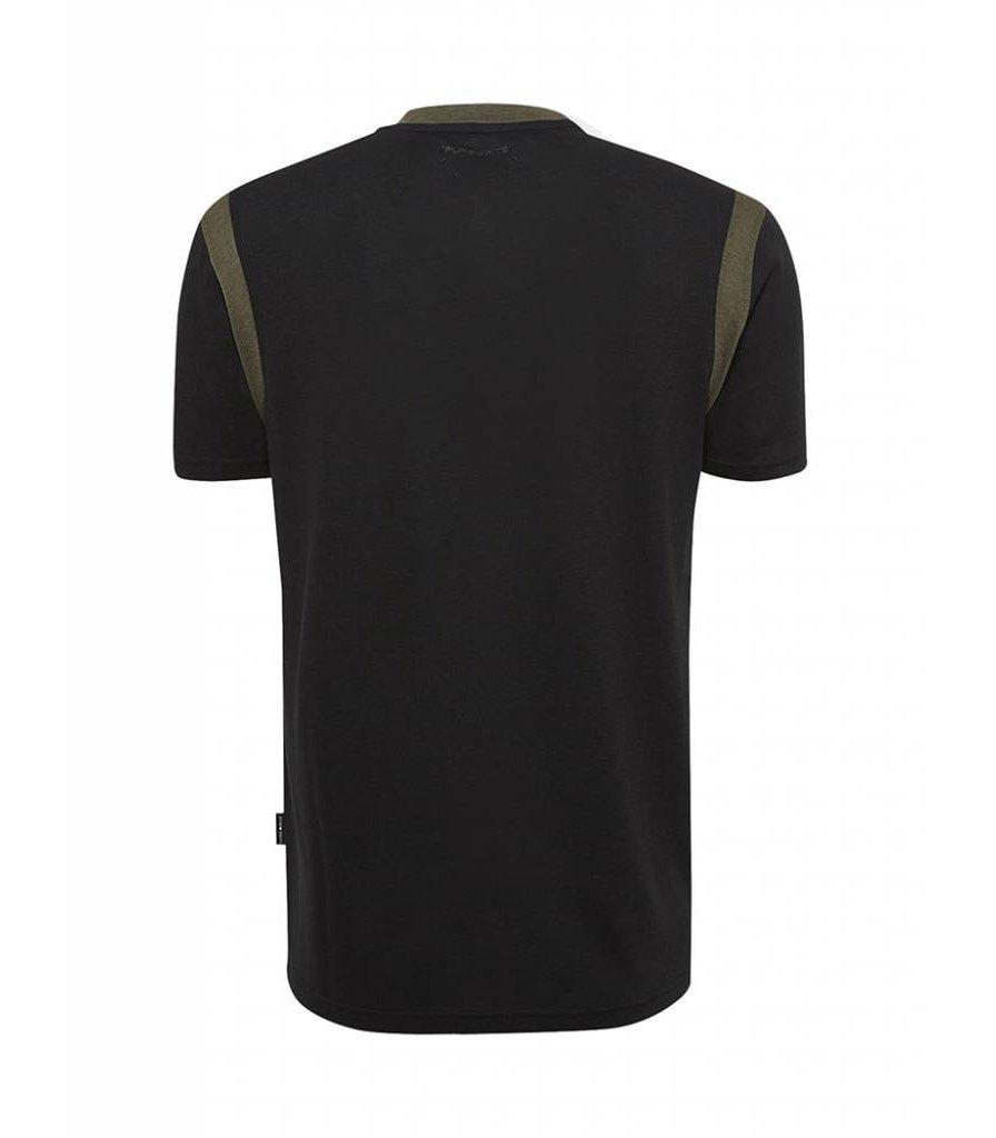PUREWHITE CONTRAST T-SHIRT BLACK