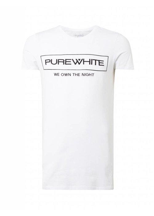 PUREWHITE 'WE OWN THE NIGHT' LOGO T-SHIRT WHITE