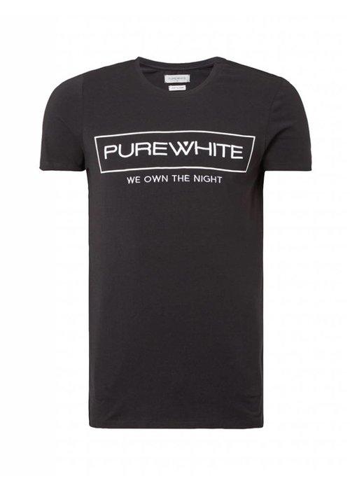 PUREWHITE 'WE OWN THE NIGHT' LOGO T-SHIRT BLACK