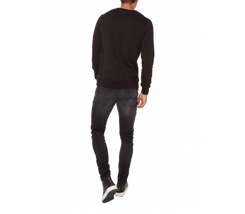 PUREWHITE EMBROIDED SWEATER BLACK
