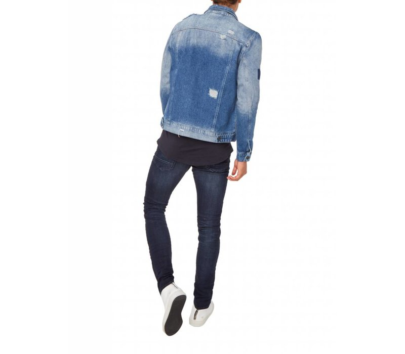 PUREWHITE DISTRESSED DENIM JACKET