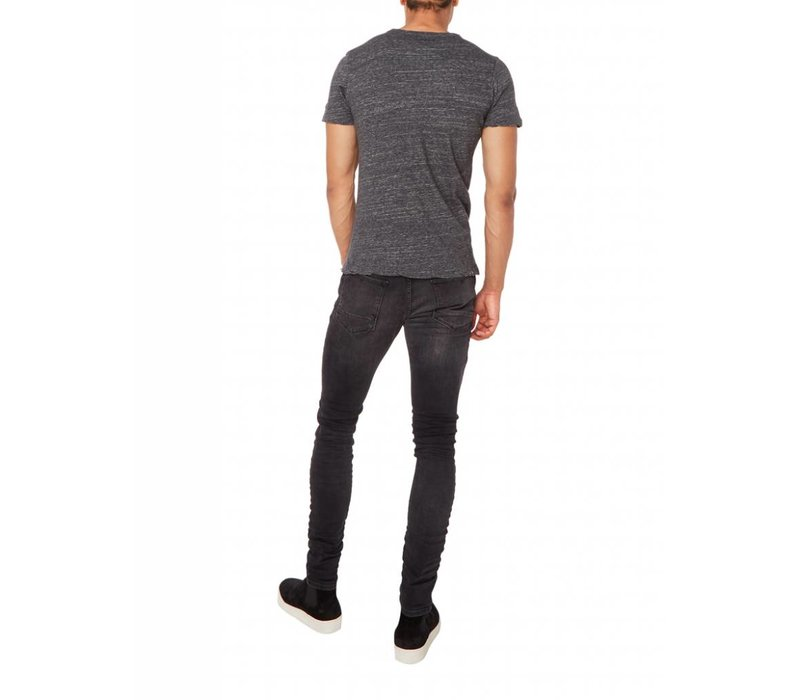 PUREWHITE T-SHIRT BLACK MELANGE