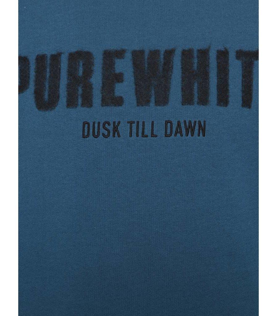 PUREWHITE 'DUSK TILL DAWN' SWEATER PETROL
