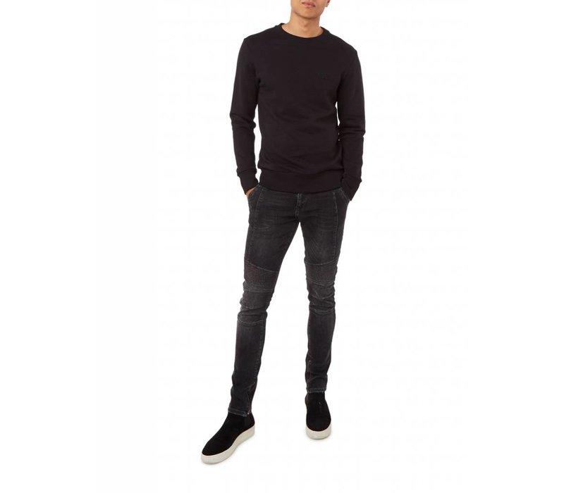 PUREWHITE ICON LOGO SWEATER BLACK