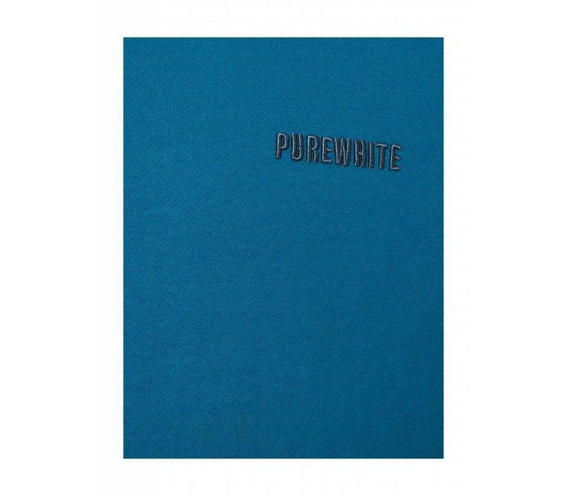 PUREWHITE ICON LOGO SWEATER PETROL