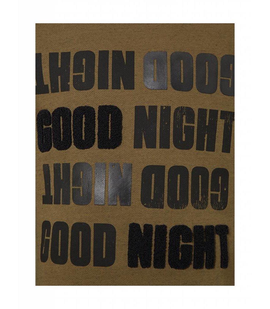 PUREWHITE 'GOOD NIGHT' SWEATER DARK ARMY