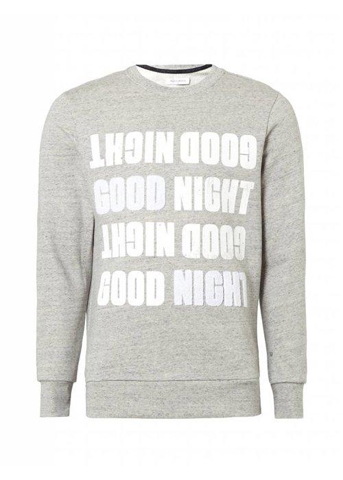 PUREWHITE 'GOOD NIGHT' SWEATER GREY