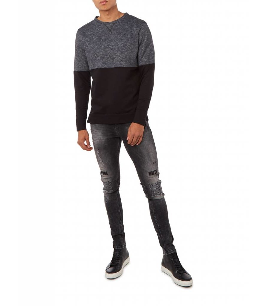 PUREWHITE TWO-TONE SWEATER ANTRA & BLACK