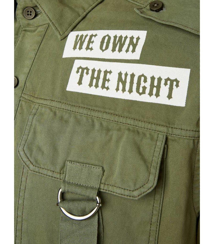 PUREWHITE 'WE OWN THE NIGHT' SHIRT ARMY