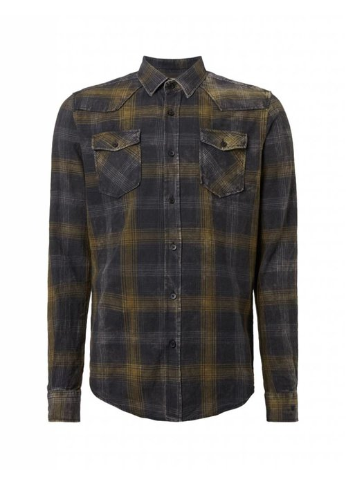 PUREWHITE WASHED PLAID SHIRT BLACK, GREY & ARMY