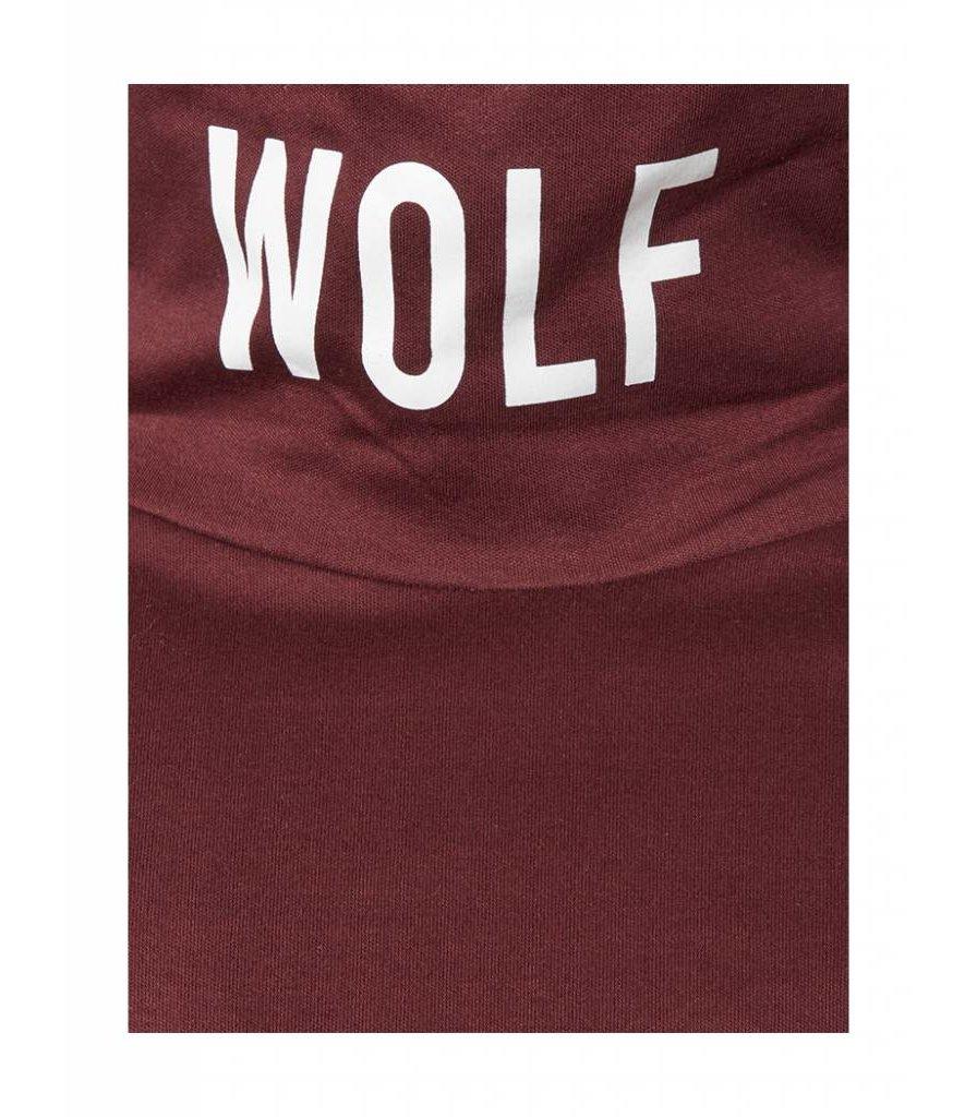 PUREWHITE 'WOLF' TURTLENECK LONG SLEEVE TEE BORDEAUX