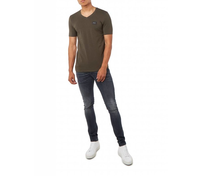 PUREWHITE ESSENTIAL V-NECK DARK ARMY