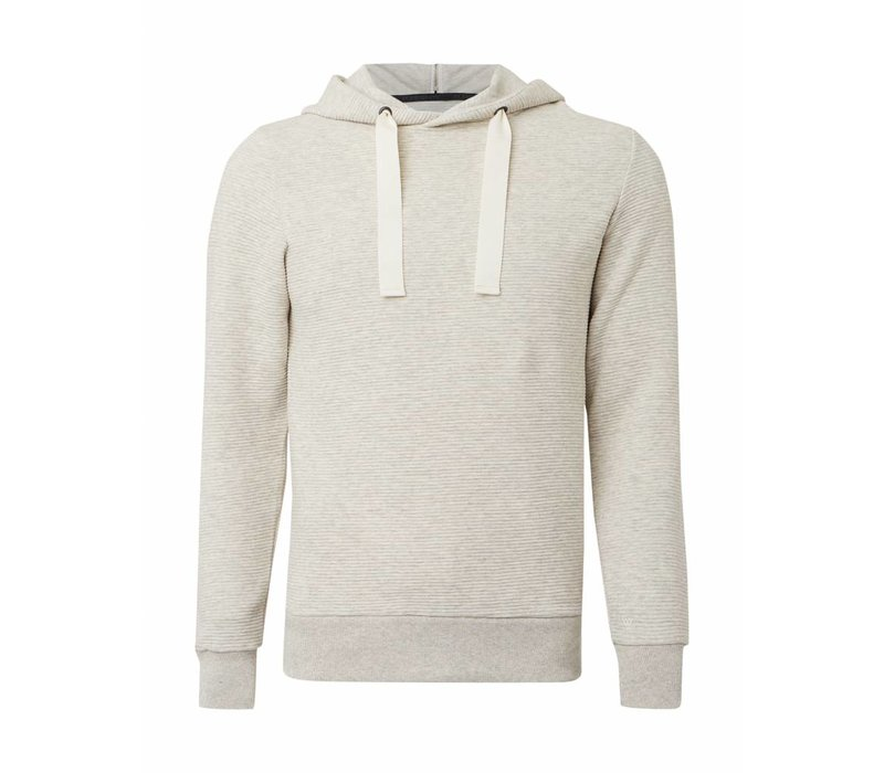 PUREWHITE RIBBED HOODIE OFF WHITE