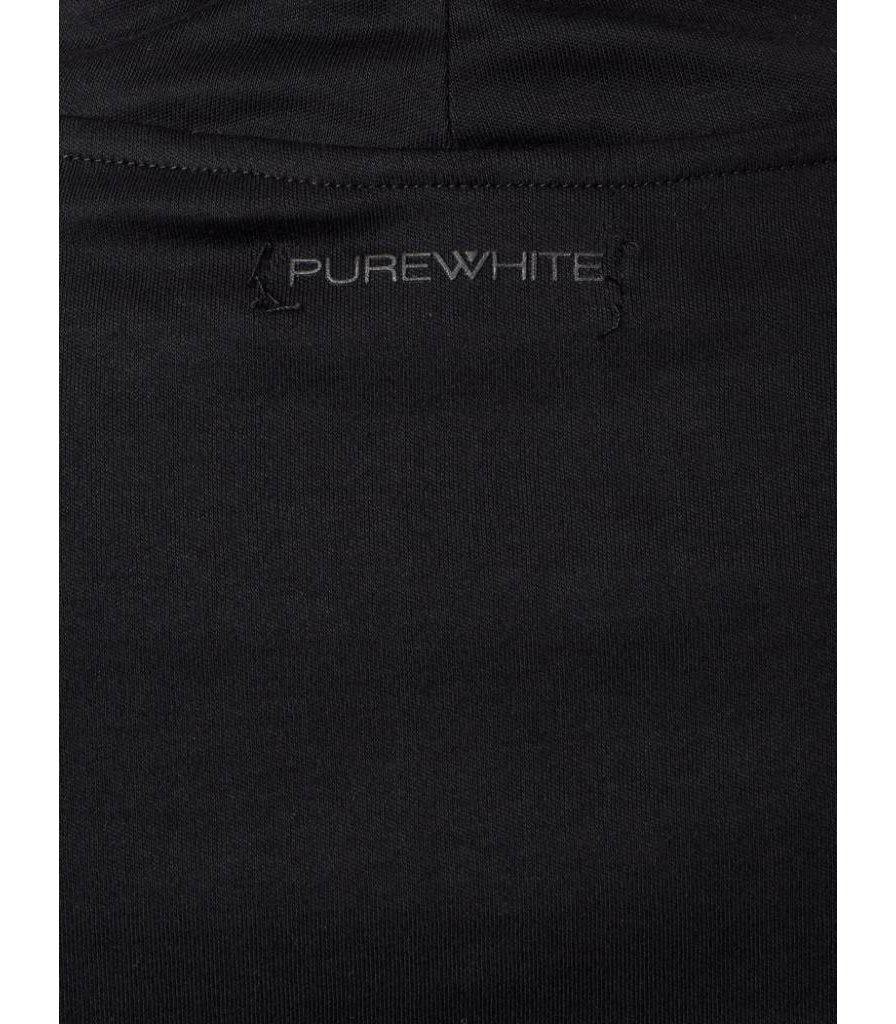 PUREWHITE TURTLENECK LONG SLEEVE TEE BLACK