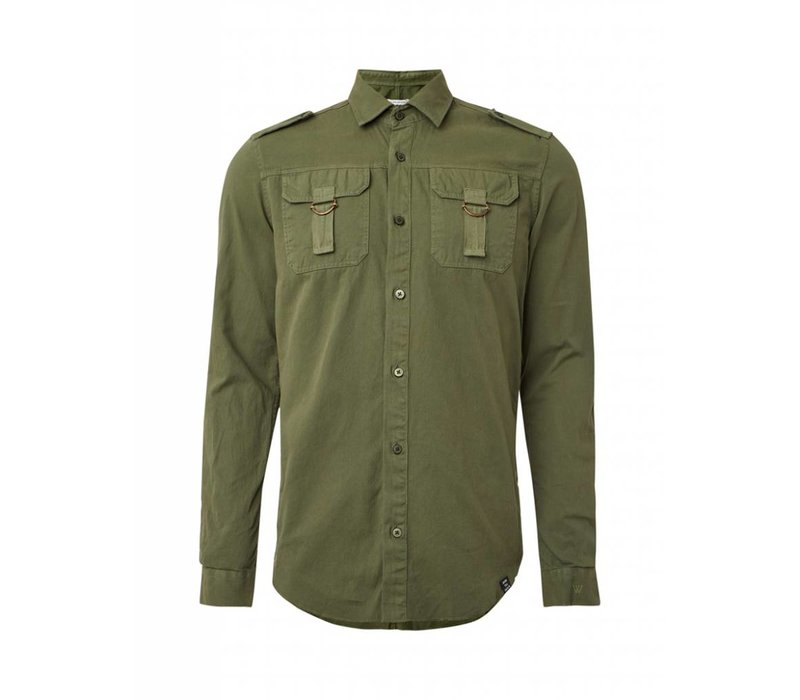 PUREWHITE CHEST POCKETS SHIRT ARMY