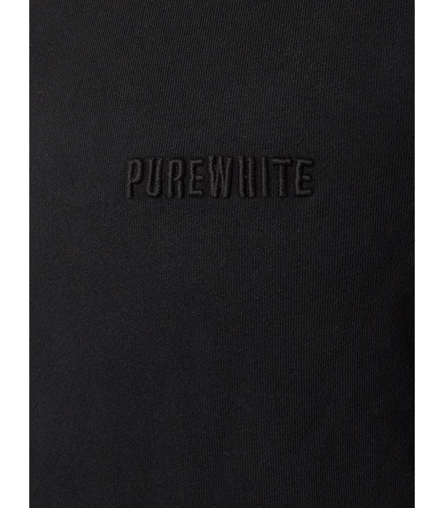 PUREWHITE DRAWSTRING HOODIE BLACK
