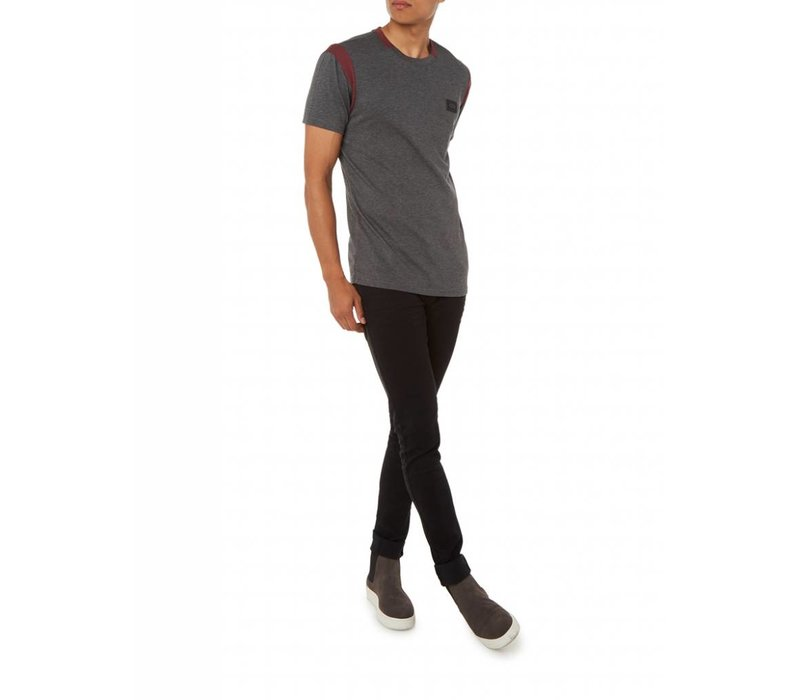 PUREWHITE CONTRAST T-SHIRT ANTRA MELEE