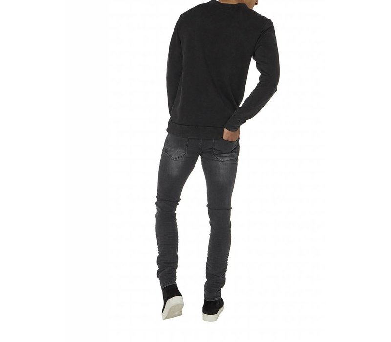 PUREWHITE 'FROM DUSK TILL DAWN' SWEATER BLACK