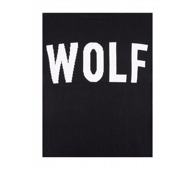 PUREWHITE WOLF KNITTED CREWNECK BLACK