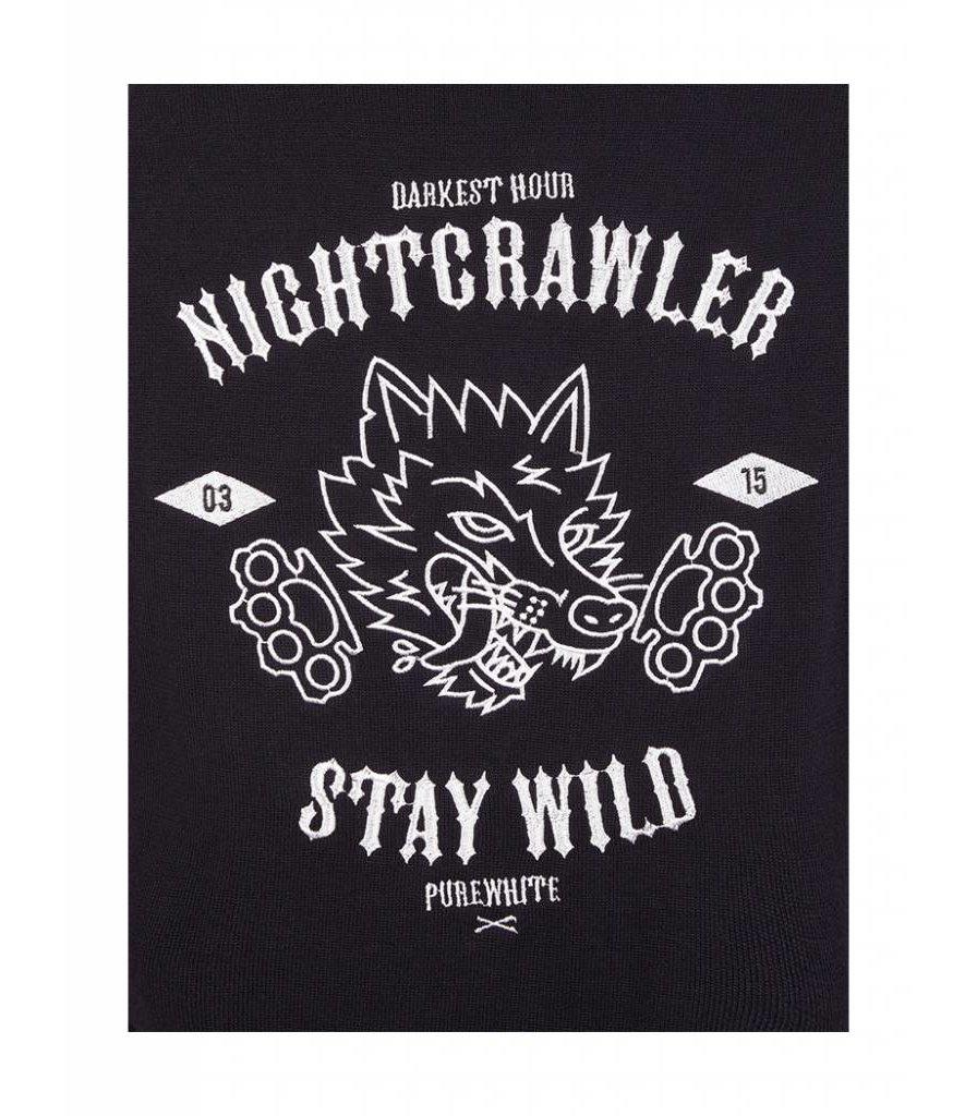 PUREWHITE NIGHT CRAWLER KNITTED CREWNECK BLACK