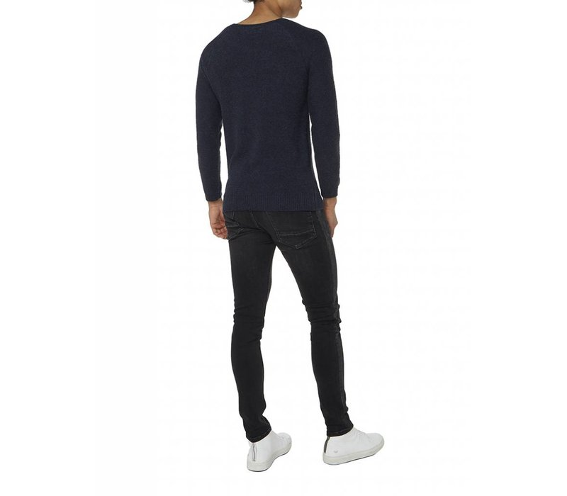 PUREWHITE KNITTED SWEATER NAVY