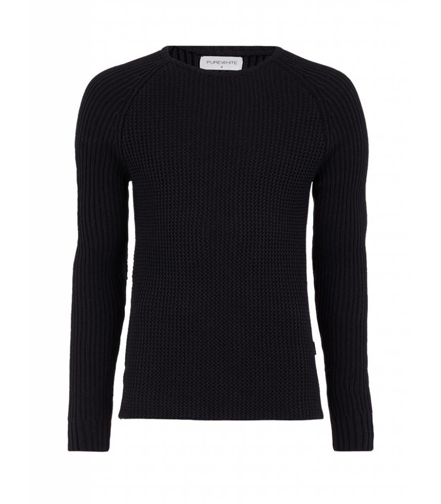 PUREWHITE KNITTED CREWNECK BLACK