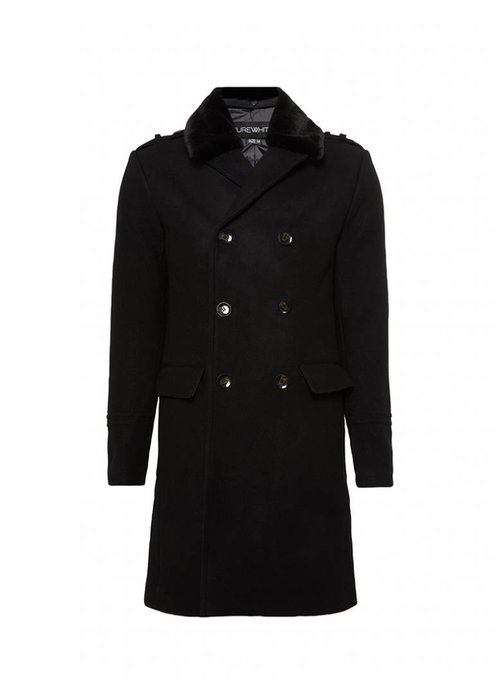 PUREWHITE OVER COAT BLACK