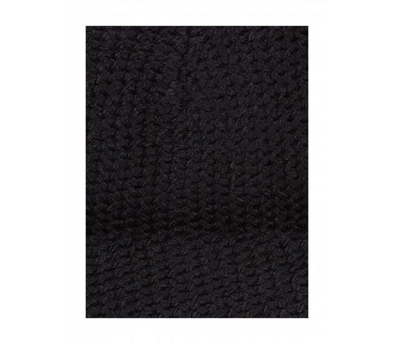 PUREWHITE BEANIE BLACK