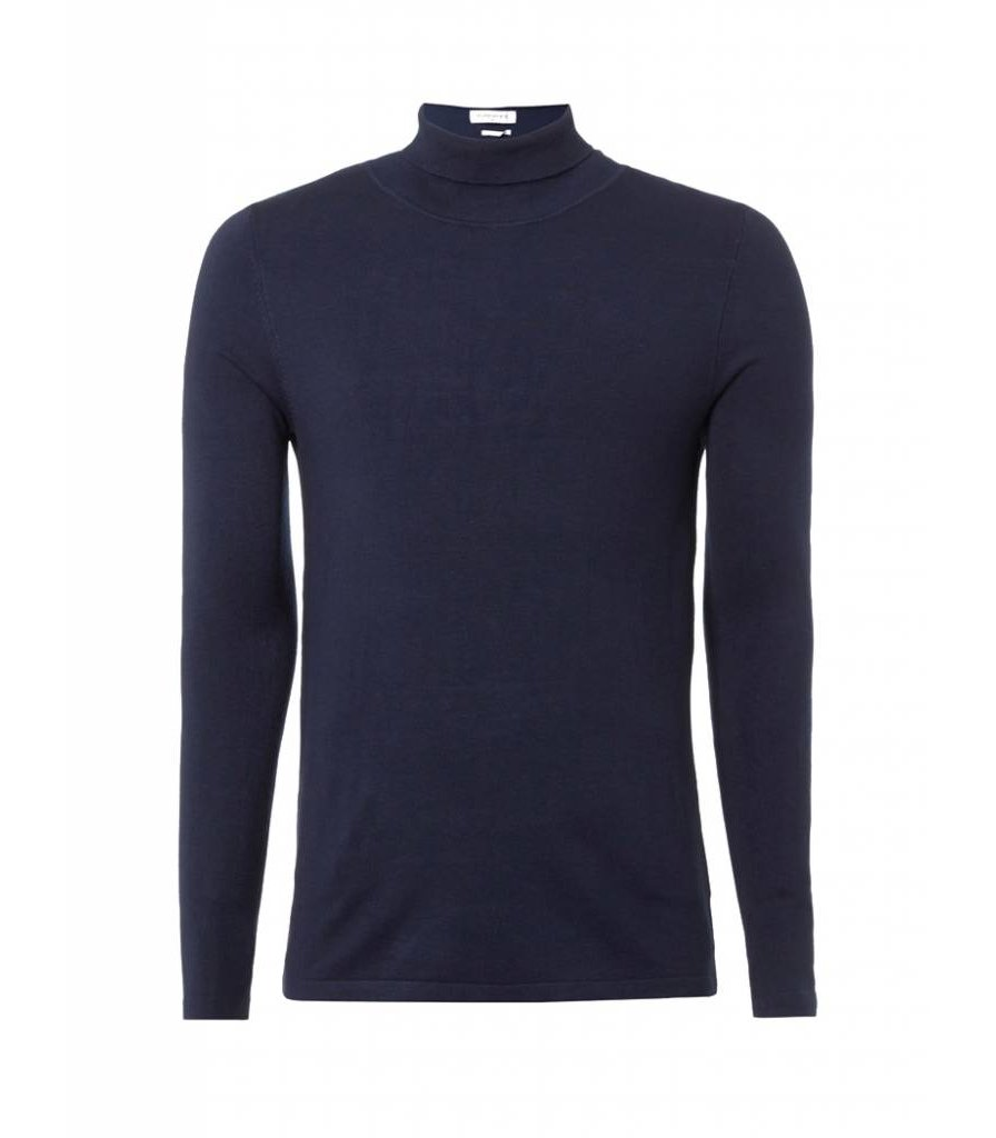 PUREWHITE KNITTED TURTLENECK NAVY