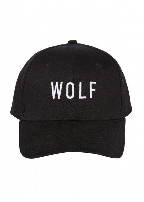PUREWHITE WOLF CAP BLACK