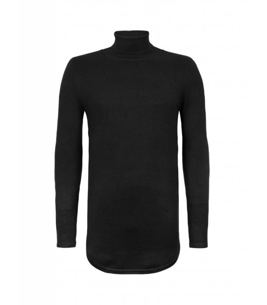 PUREWHITE KNITTED TURTLENECK  BLACK