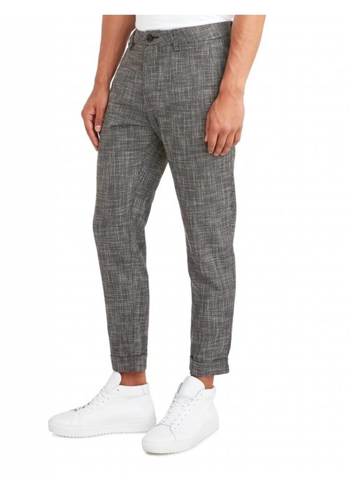 PUREWHITE THE JAMES 296 STRIPED PANTS GREY