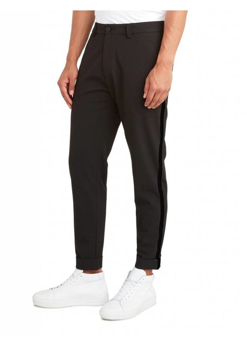 PUREWHITE THE JAMES 320 TAPE PANTS SOLID BLACK