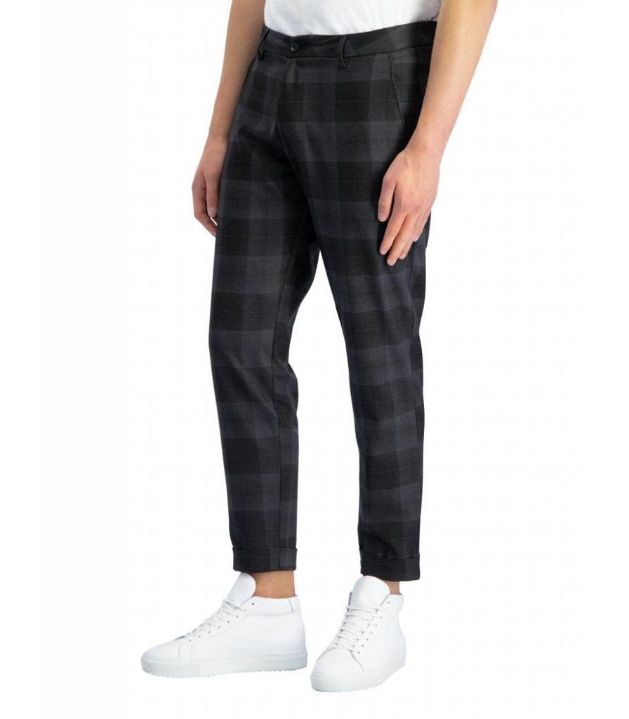 PUREWHITE THE JAMES 314 CHECKED PANTS ANTRA