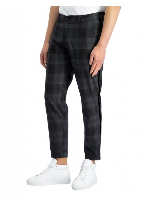 PUREWHITE THE JAMES 321 TAPE CHECKED PANTS ANTRA