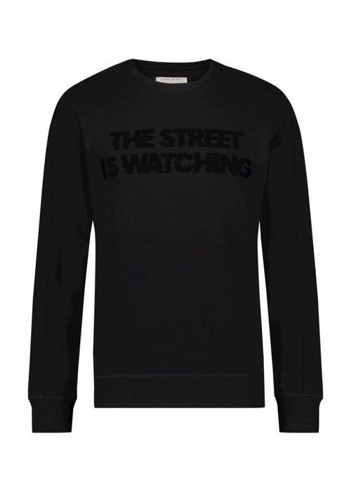 PUREWHITE THE STREET IS WATCHING SWEATER BLACK