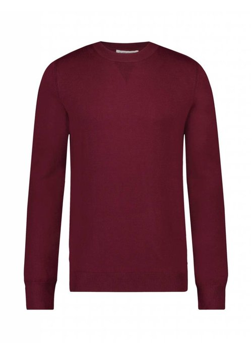 PUREWHITE KNITTED HOLIDAY CREWNECK BORDEAUX