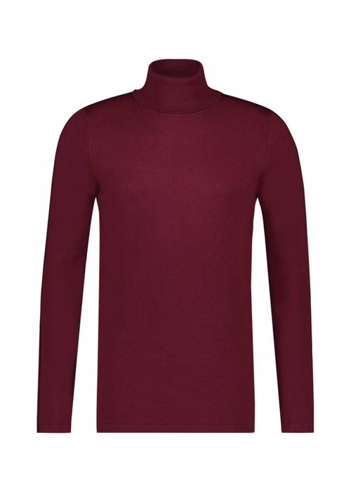 PUREWHITE STRIPE KNITTED TURTLENECK BORDEAUX