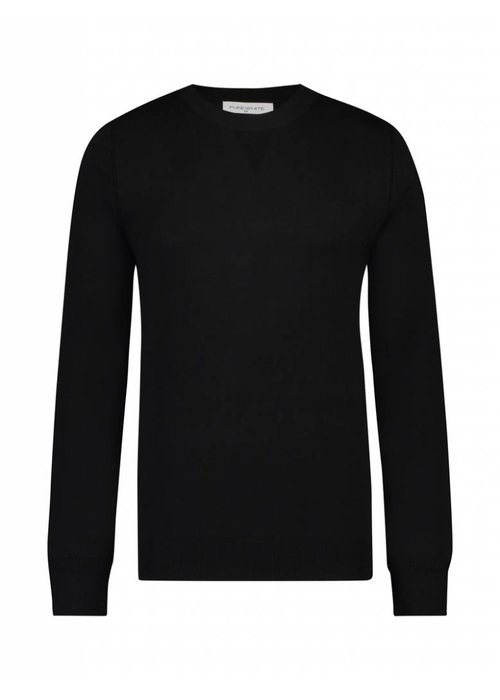 PUREWHITE KNITTED HOLIDAY CREWNECK BLACK