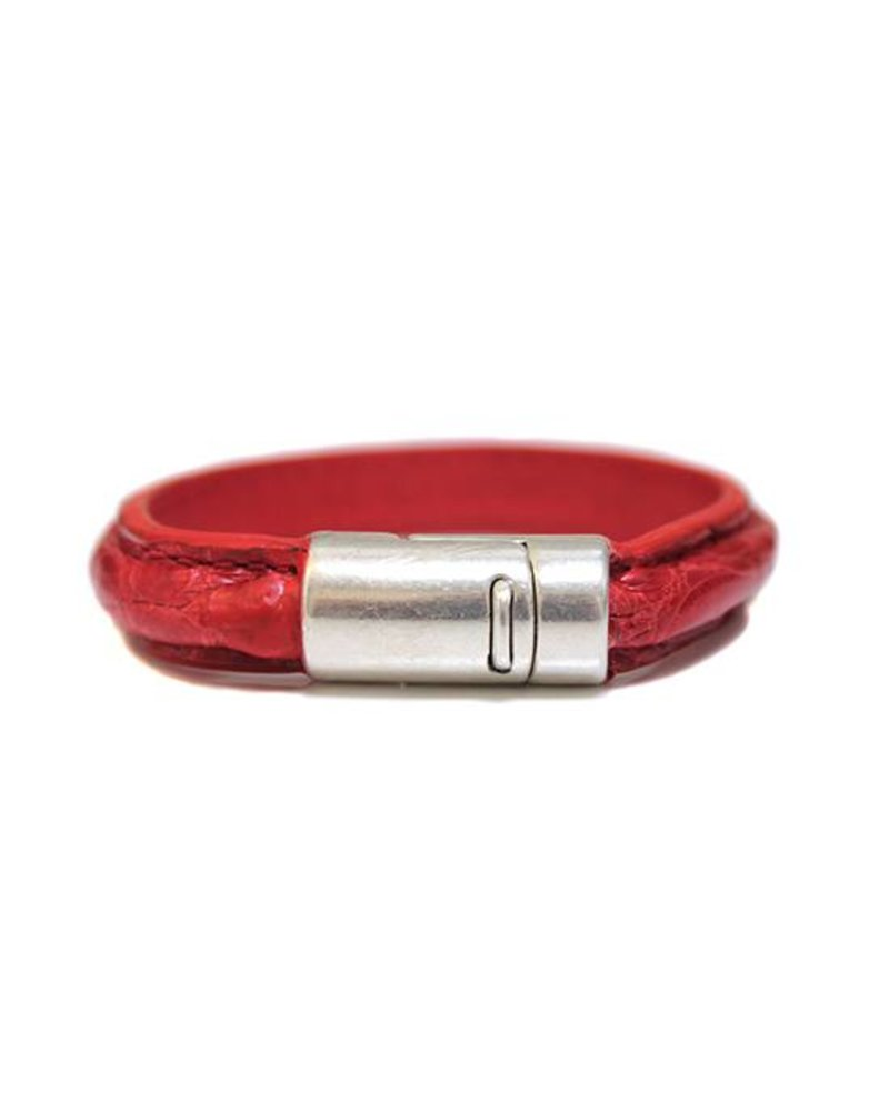 DLHC Croco armband medium rood