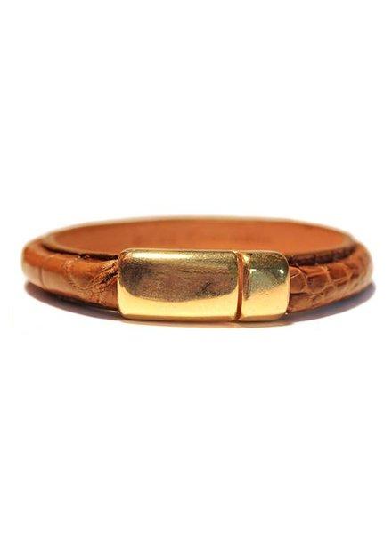 DLHC Croco armband medium cognac