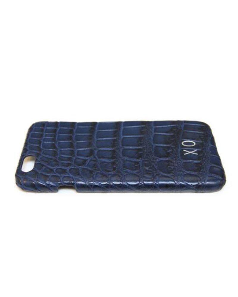XO XO luxury croco Blauw iPhone 6S/6