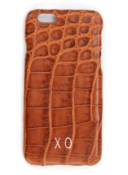 XO XO luxury croco Cognac iPhone 6S/6