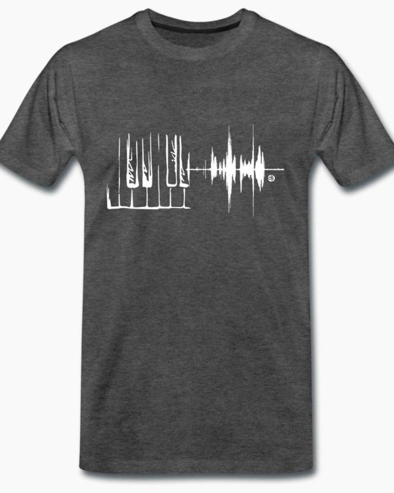 djl. Mannen T-shirt Premium Wit Piano