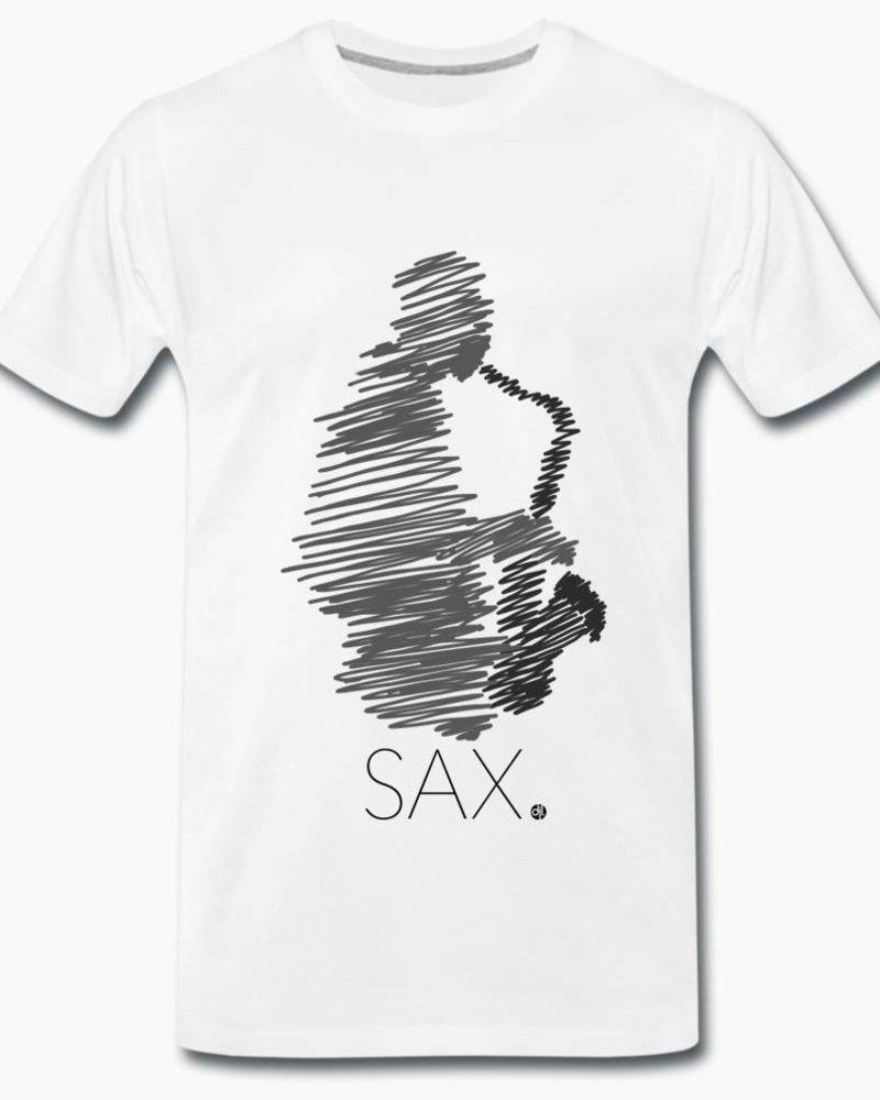 djl. Mannen T-shirt Premium Grijs Sax