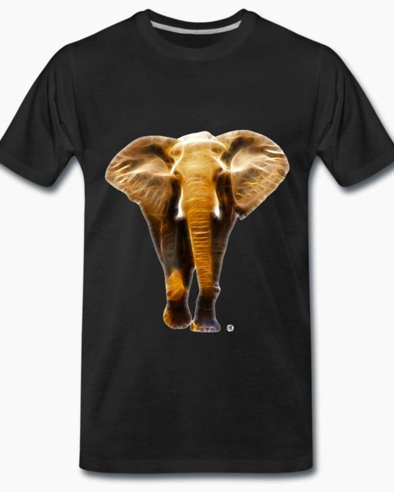 djl. Mannen T-shirt Premium Zwart Elephant