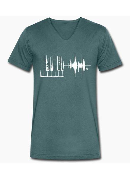 djl. Mannen V-shirt Premium Mint Piano