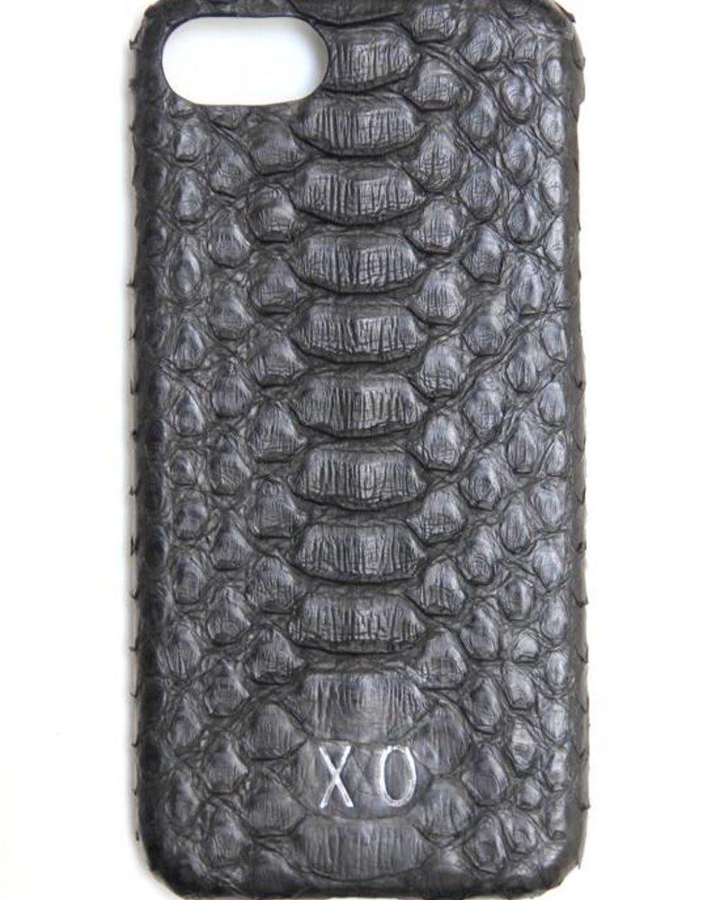 XO XO luxury python Zwart iPhone 8